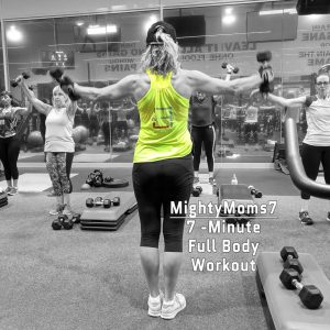 Mia coaches a Group Weight Training class